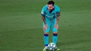 Los datos de Messi con el Barça tras el parón