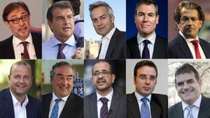 Precandidatos a la presidencia del Barça 2021caras