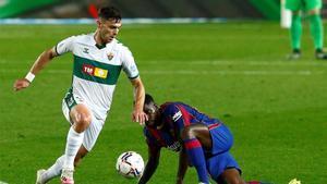 Lucas Boyé, durante un partido del Elche esta temporada.