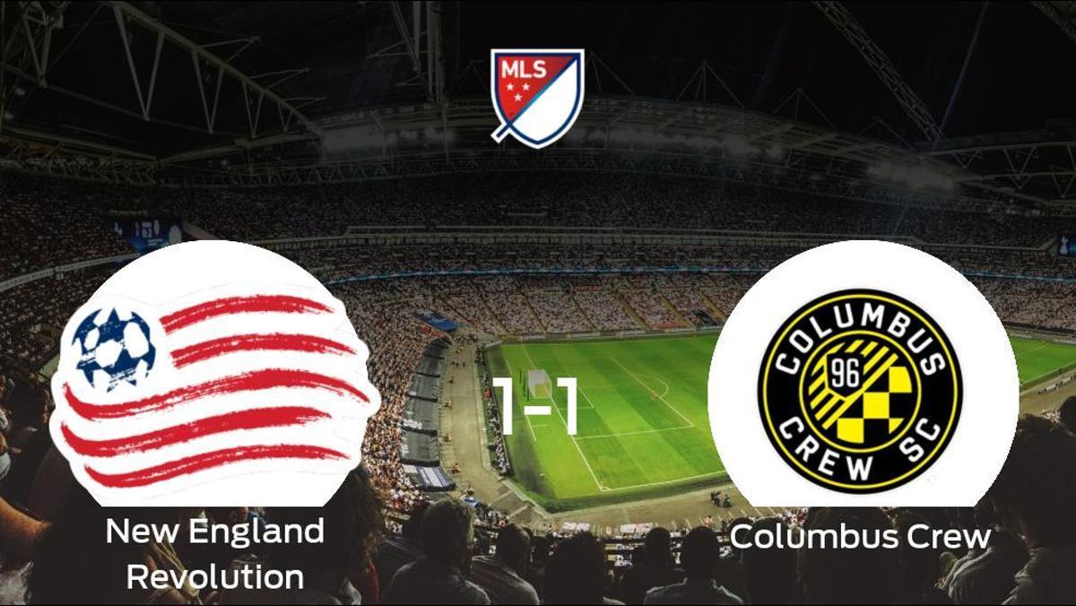Reparto de puntos entre el New England Revolution y el Columbus Crew (1-1)