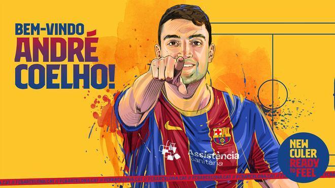 André Coelho, muy feliz tras su fichaje por el Barça