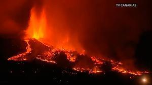 Así está ahora mismo el volcán de La Palma