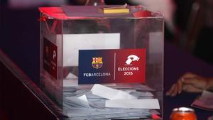 Una urna de las elecciones del Barça del 2015