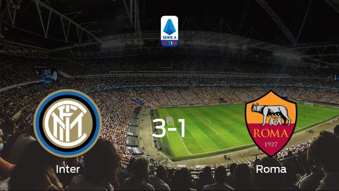 Tres puntos para el equipo local: Inter 3-1 AS Roma