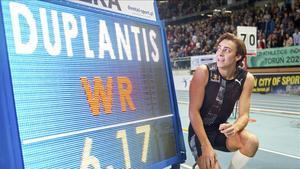 Duplantis, con su record mundial