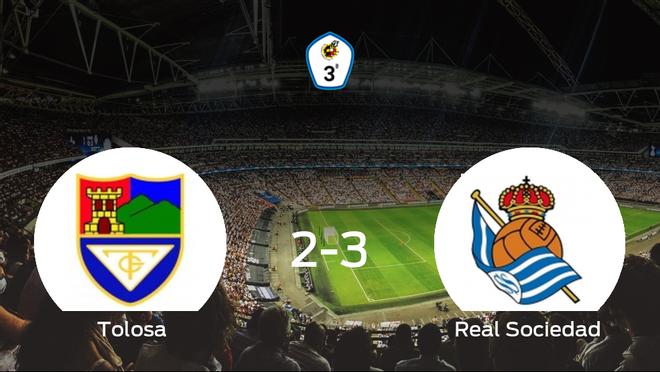 La Real Sociedad C suma tres puntos a su casillero frente al Tolosa CF (2-3)