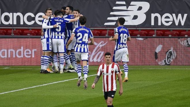 El último partido de la Real Sociedad los coronó como campeones de la Copa del Rey