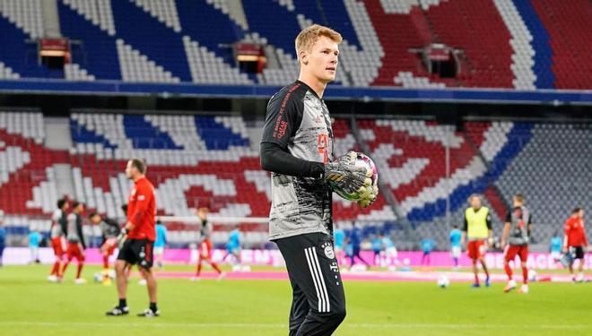 Alexander Nübel, durante un partido con el Bayern