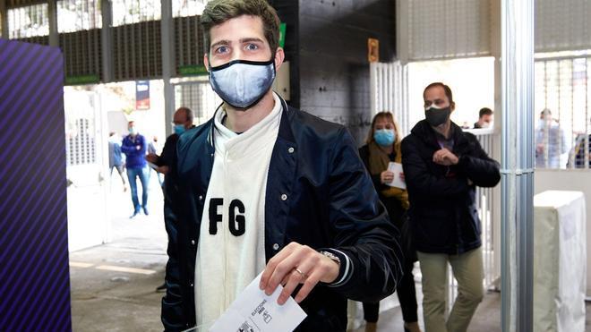 Sergi Roberto, en el momento de la votación