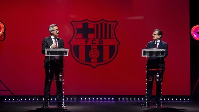 Font y Freixa durante el debate en Barça TV