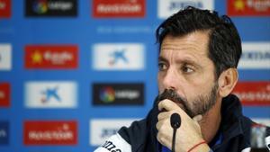 Quique Sánchez Flores, en su etapa como entrenador del Espanyol.