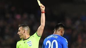 Estrada Fernández, en un partido de Europa League