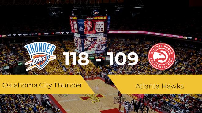 Victoria de Oklahoma City Thunder ante Atlanta Hawks por 118-109