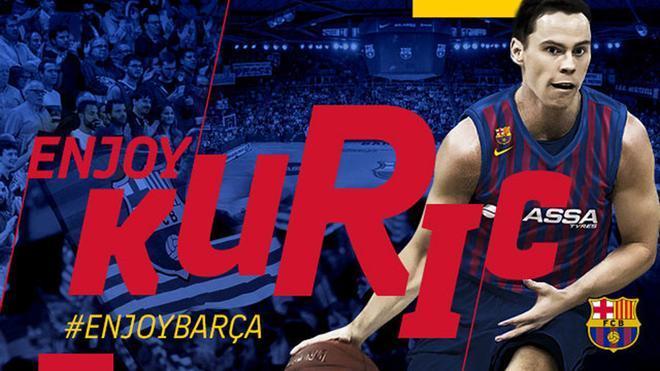 Kyle Kuric es nuevo jugador del Barça Lassa de baloncesto
