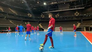 El Barça ya se ha entrenado en la impresionante sede de la Ronda Principal