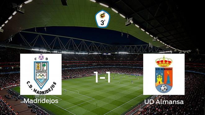 El Madridejos y la UD Almansa empatan 1-1 y se reparten los puntos