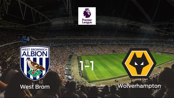 Reparto de puntos entre el West Bromwich Albion y el Wolverhampton Wanderers (1-1)