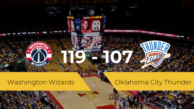 Washington Wizards vence a Oklahoma City Thunder (119-107)