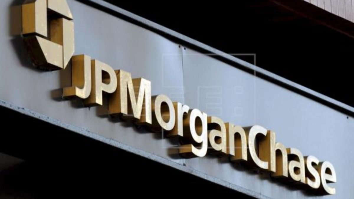 Logo del banco JP Morgan Chase en Nueva York