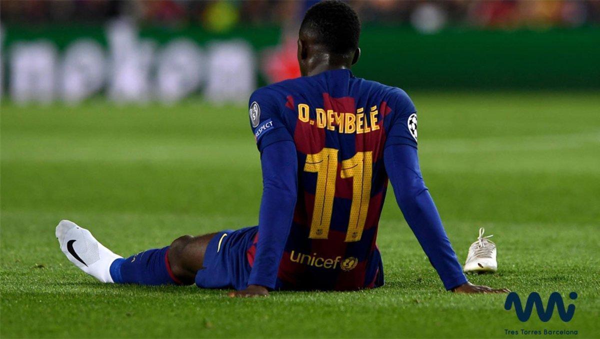 Dembelé se volvió a lesionar