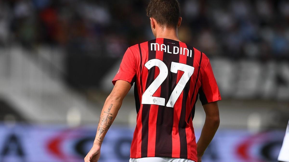 Daniel Maldini ante el Spezia