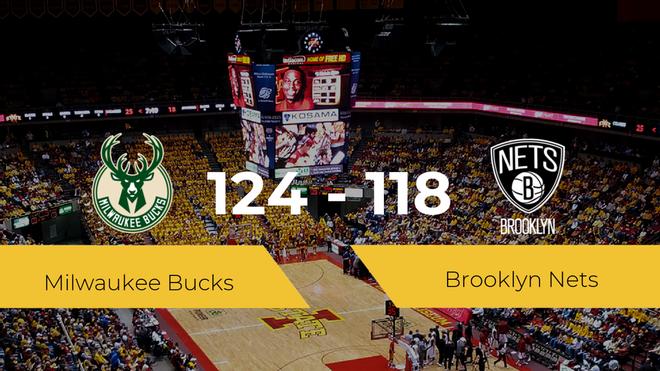 Milwaukee Bucks se hace con la victoria contra Brooklyn Nets por 124-118