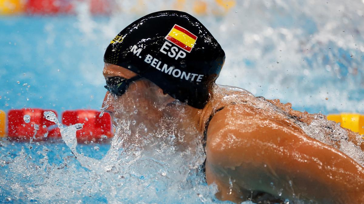Mireia Belmonte durante los Juegos Olímpicos de Tokio 2020