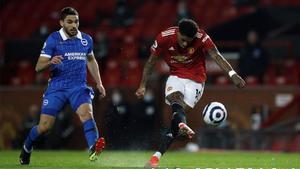 Rashford anotó el gol del empate ante el Brighton