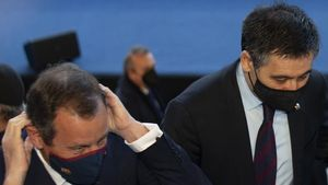 Los dos últimos presidentes, Josep Maria Bartomeu y Sandro Rosell