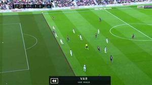 El árbitro anuló un gol a Messi por fuera de juego
