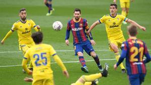 Leo Messi, durante el partido del Barça contra el Cádiz