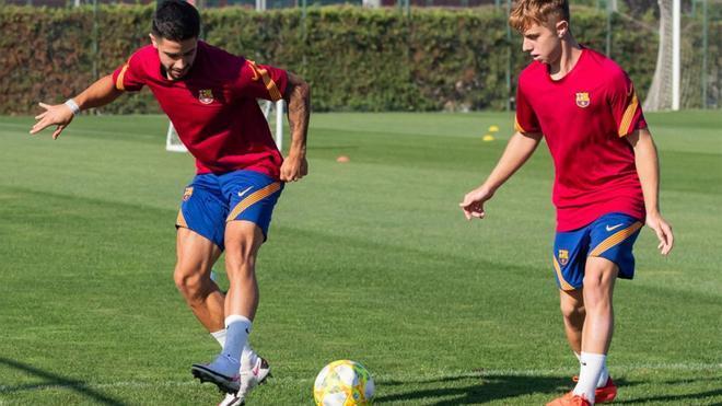 El Barça B volvió a los entrenamientos de la pretemporada 2020/21 en la Ciudad Deportiva Joan Gamper