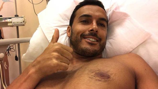 Pedro, desde la cama del hospital