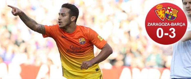 Thiago marcó un gol y dio el segundo a Tello
