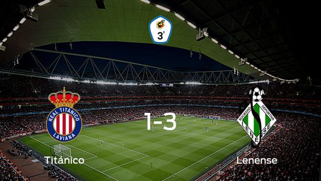 El Lenense se lleva la victoria tras vencer 1-3 al Real Titánico