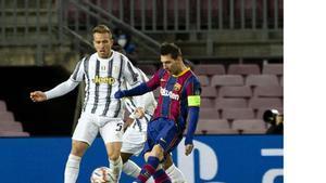 Messi y Arthur, en el Barça - Juventus disputado en el Camp Nou