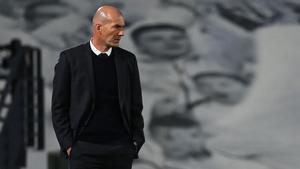 Zidane, durante un partido del Madrid