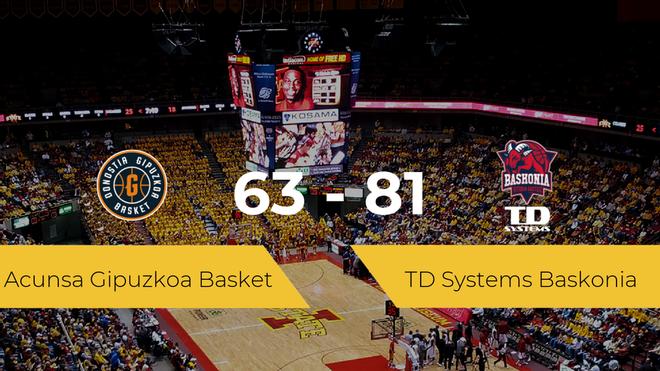 El TD Systems Baskonia vence al Acunsa Gipuzkoa Basket (63-81)