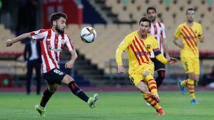 Leo Messi lideró el juego del Barça pese a la vigilancia férrea a la que fue sometido