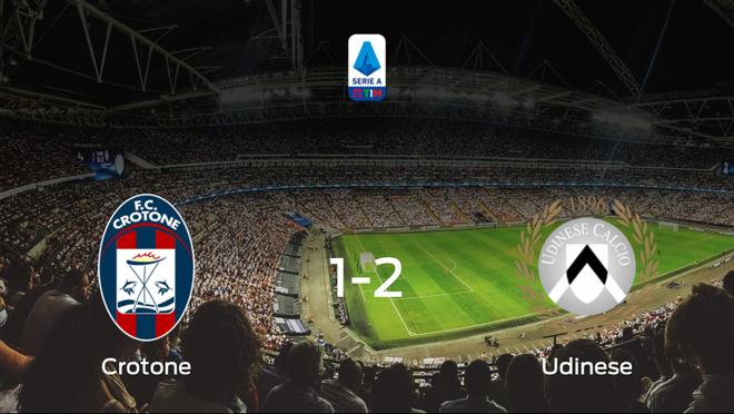 El Udinese deja sin sumar puntos al Crotone (1-2)