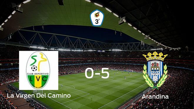 La Arandina se lleva los tres puntos a casa tras golear a La Virgen Del Camino (0-5)