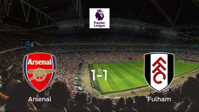 El Arsenal y el Fulham empatan a uno en el Emirates Stadium