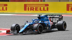 Fernando Alonso, en el test de Bahrein