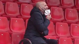 Monchi, durante el partido ante el Barça