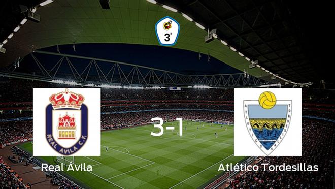 El Real Ávila gana 3-1 al Atlético Tordesillas y se lleva los tres puntos
