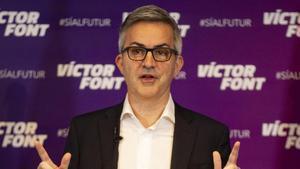 Víctor Font en un acto de campaña