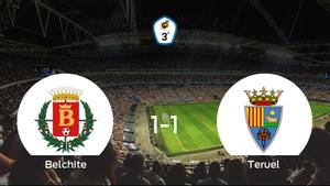 El Teruel logra un empate a uno frente al Belchite