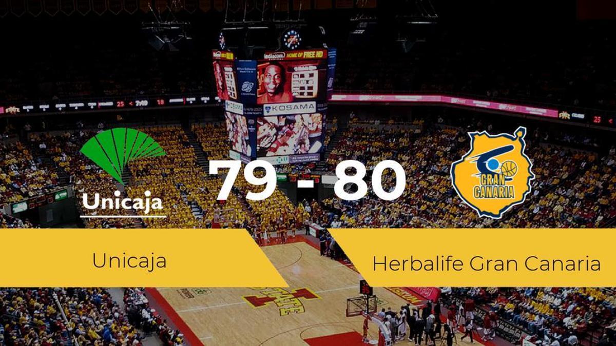 El Herbalife Gran Canaria logra vencer al Unicaja (79-80)