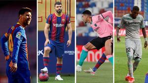 Los cuatro representantes del FC Barcelona en la Copa América: Messi, Kun Agüero, Araújo y Emerson Royal