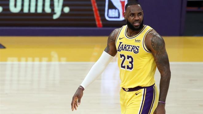 Lebron James, en un partido de los Lakers